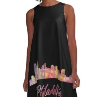 Philadelphia Skyline A-Line Dress