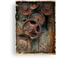 old industrial gears Canvas Print