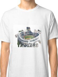Yankee Stadium Grunge Logo Classic T-Shirt