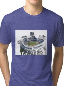 Yankee Stadium Grunge Logo Tri-blend T-Shirt