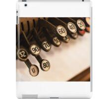 Antique cash register keys iPad Case/Skin