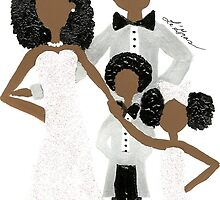 African American Wedding Card by Stacy LeGras