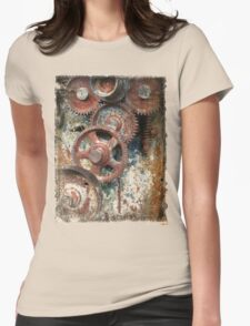 old industrial gears Womens Fitted T-Shirt
