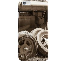Vintage rusty farm tractor iPhone Case/Skin