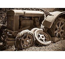 Vintage rusty farm tractor Photographic Print
