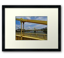 Pittsburgh's 3 Sisters Framed Print
