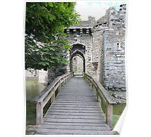 Beaumaris Castle Bridge Poster