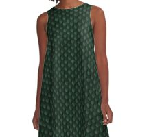 Green Forest Dragon Scales A-Line Dress