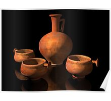 Ancient Roman Pottery Poster