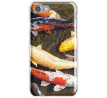 Japanese Koi fish swim together iPhone Case/Skin