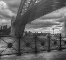 Sun rays by the bridge Sticker
