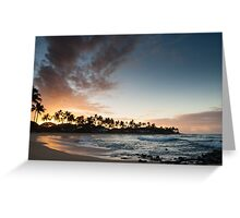 Sunrise at Poipu beach in Kauai, Hawaii Greeting Card