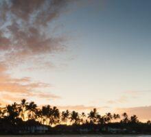 Sunrise at Poipu beach in Kauai, Hawaii Sticker