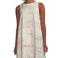 Peter Pan Book Text A-Line Dress