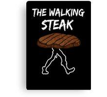 The Walking Steak Funny Parodie Design Canvas Print