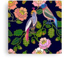 Paradize birds. Kimono motifs. Canvas Print