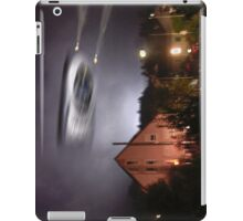 UFO above pink house iPad Case/Skin