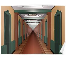 Never Ending Art Deco Corridor Poster