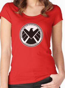 SHIELD of Nick Fury Logo Women's Fitted Scoop T-Shirt