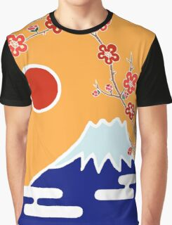 Mount Fuji in Spring Graphic T-Shirt