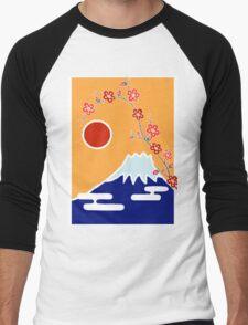 Mount Fuji in Spring Men's Baseball ¾ T-Shirt