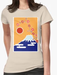 Mount Fuji in Spring Womens Fitted T-Shirt