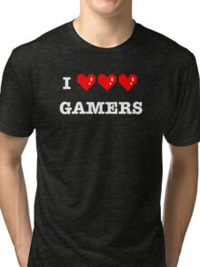 I heart Gamers Tri-blend T-Shirt