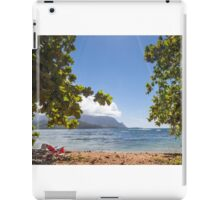 Empty chair on beach iPad Case/Skin