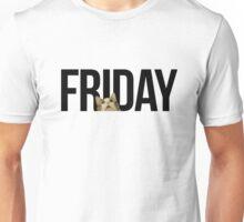 Friday cat - version 1 - black Unisex T-Shirt