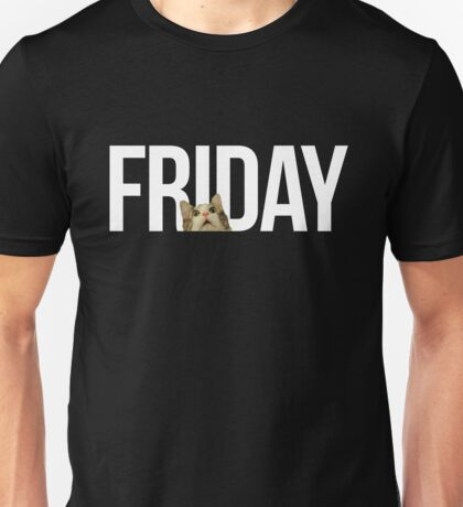 Friday cat - version 2 - white Unisex T-Shirt