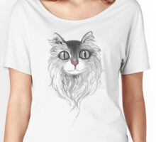 Cat with Long hair Women's Relaxed Fit T-Shirt