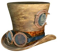 Steampunk Hat and Goggles by Paul Fleet