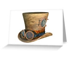 Steampunk Hat and Goggles Greeting Card