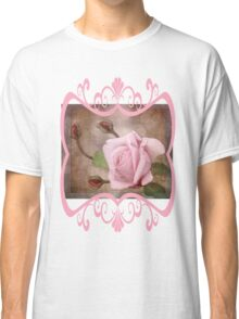 Vintage Rose in Pink Classic T-Shirt