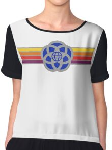 Old Epcot Logo Tee Shirt Chiffon Top