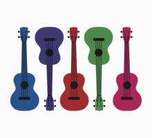 Ukulele - colours Kids Tee