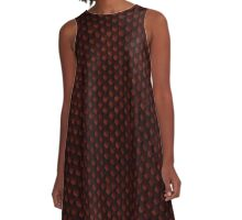 Red Dragon Scale A-Line Dress