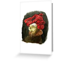 Portrait of a Sloth in Red Turban Greeting Card