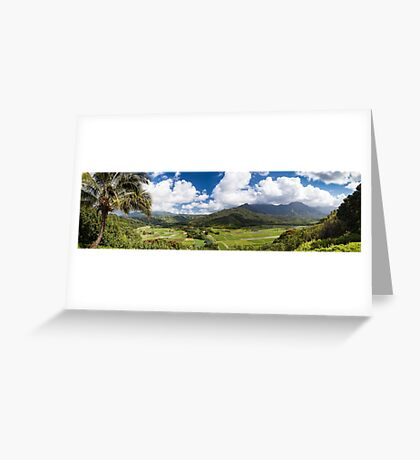 Hanalei Valley's taro fields in Kauai, Hawaii Greeting Card