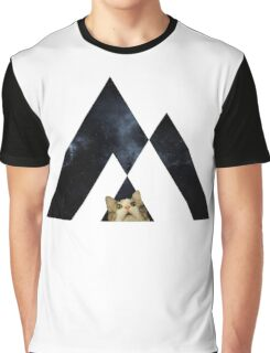 Abstract cat in space - version 2 Graphic T-Shirt