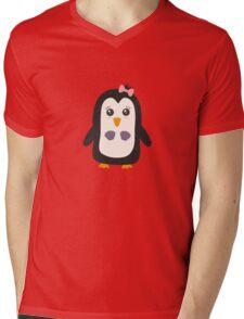 Penguin with bikini   Mens V-Neck T-Shirt