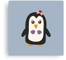 Penguin with bikini   Canvas Print