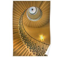 The Tulip Staircase, The Queen's House, Greenwich, London Poster