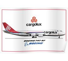 Airlines Collection Boeing 747-8f Cargolux Poster