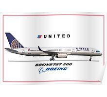 Airlines Collection Boeing 757-200 United Poster