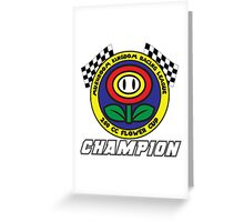 Flower Cup Champion Greeting Card