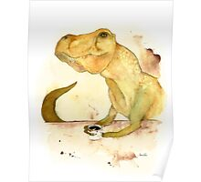 T-Rex Morning Coffee Poster