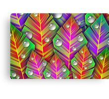 Leaves and Droplets Canvas Print