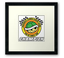 Shell Cup Champion Framed Print