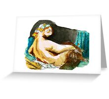 The Sloth Odalisque Greeting Card